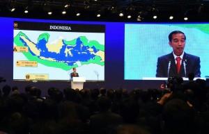 Presiden Jokowi hadiri The 7th Asian Leadership Conference yang dilaksanakan di The Shilla Hotel, Seoul, Korea Selatan (17/05). (Foto: Humas/Anggun)