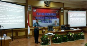 Pelaksanaan Forum Tematik Bakohumas tentang Bela Negara di Kementerian Pertahanan Rabu (11/5) siang.