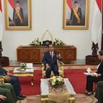 Presiden Jokowi, Kamis (5/5) pagi, di Istana Kepresidenan Yogyakarta, bertemu dengan Menlu dan Panglima Filipina dan Malaysia. (Foto: Humas/Jay)