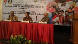 Forum Tematik Bakohumas Kemenpora, Selasa (3/5). (Foto: Humas/Edi)