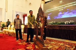Presiden Jokowi menutup rangakaian acara Musyawarah Perencanaan dan Pembangunan Nasional di Istana Negara Jakarta, Rabu(11/5) Pagi.