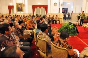 Presiden Jokowi saat memberikan pidato dalam penutupan Musrenbangnas 2016 (11/5). (Foto: Humas/Rahmat)
