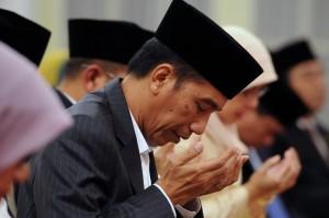 Presiden Jokowi pada acara Peringatan Nuzulul Quran Tahun 1437 H/2016 M, Selasa (21/6), di Istana Negara, Jakarta. (Foto: Humas/Oji)