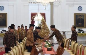 KPHI menghadap Presiden Jokowi, di Istana Merdeka, Jakarta, Selasa (16/4) pagi. (Foto: Humas/Jay)