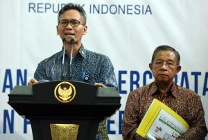 Staf Ahli Seskab mewakili Pokja 2, di Kantor Kemenko Perekonomian, Jakarta, Selasa (28/6) siang. (Foto: Humas/Rahmat)