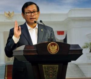 Seskab Pramono Anung menyampaikan hasil rapat terbatas, di kantor Kepresidenan, Jakarta, Rabu (13/7) sore. (Foto: JAY/Humas)