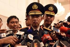 Presiden Jokowi melantik Jenderal Polisi Tito Karnavian menjadi Kepala Kepolisian RI menggantikan Jenderal Polisi Badrodin Haiti di Istana Negara Jakarta, Rabu(13/7) Siang.