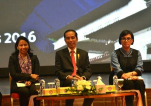 Photo caption: President Jokowi at the Dissemination of Tax Amnesty Program in Bandung (8/8). (Photo by: Public Relations Division/Fitri)