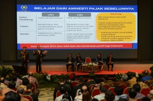President Joko Widodo gives explanation on Tax Amnesty in Bandung (8/8) (Picture: Public Relations Office/Fitri)