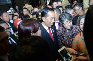 Photo Caption: President Joko Widodo during a door stop, after disseminating tax amnesty program on Monday (8/8), in Bandung, West Java