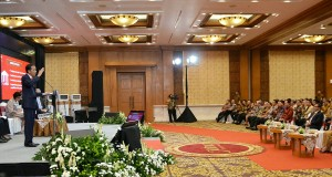 Photo caption: President Jokowi gives his directives at the Tax Amnesty Program Dissemination at PatraJasa Hotel, Semarang, Central Java (9/8) (Photo by: Public Relations Division/Oji)