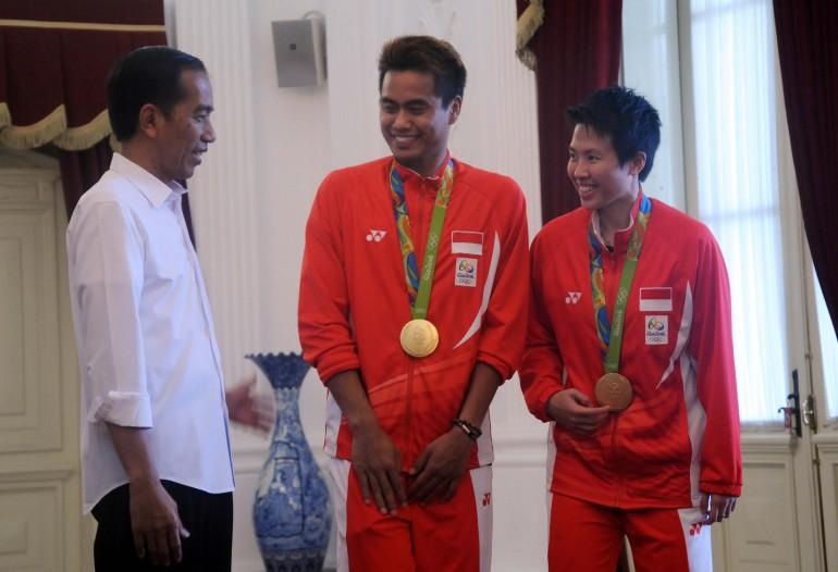 Presiden Jokowi Menerima Atlet Peraih Mendali Olimpiade Rio