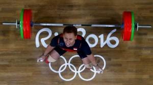 Lifter Eko Yuli saat tampil di Olimpiade Rio 2016