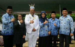 Deputi Seskab Bidang Kemaritiman Ratih Nurdiati menghadiri Perayaan HUT Kemerdekaan RI ke 71 di Pulau terluar dan terdepan (Pulau Enggano, Bengkulu Utara) tahun 2016, Rabu 17 Agustus 2016, Waktu setempat.