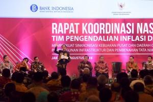 Presiden Jokowi saat memberi arahan pada Rakornas VI Tim Pengendalian Inflasi Daerah (TPID) Tahun 2016, di Hotel Grand Sahid Jaya Hotel, Jakarta, Kamis (4/8) pagi. (Foto: Humas/Jay)