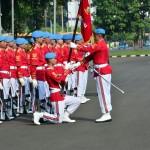 Prosesi petugas jaga Istana Kepresidenan (Foto: BPMI)