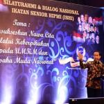 Presiden Jokowi membuka silaturahmi dan dialog nasional Ikatan Senior HIPMI di Hotel Rafless, Ciputra World, Jakarta, Jumat 29 Agustus 2016, petang.