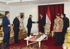 Presiden Jokowi Menerima Delegasi WIEF