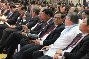 The Minister of Working Cabinet accompanied President Joko Widodo at the Opening of ASEAN Summit at NCC, Vientiane, Laos, Tuesday (6/9) afternoon (Picture: Edi N/Public Relations Office)