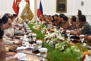 Indonesia-the Philippines Bilateral Meeting at the Merdeka Palace, Jakarta, on Friday (9/9) afternoon (Picture: Public Relations Office/Rahmat)