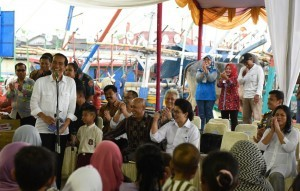 President Jokowi in a working visit to Banten on Sunday (11/9)