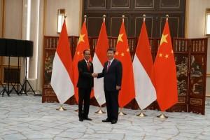 Presiden Jokowi melakukan pertemuan dengan Presiden RRT Xi Jinping, di West Lake State Guest House, Hangzhou, RRT, Jumat (2/9) siang. (Foto: Dinda M/Humas)