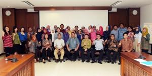 Para peserta Bimtek Anjab yang diselenggarakan Biro SDM dan Ortala Setkab, di gedung III Lantai 4 Kemensetneg, Jakarta, Rabu (14/9) pagi. (Foto: Agung/Humas)