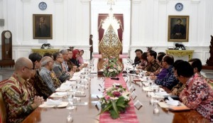 President Jokowi meets several economists on Thursday (22/9), at the Merdeka Palace, Jakarta