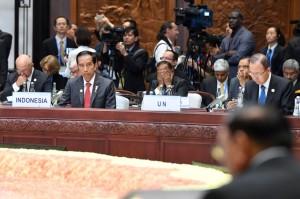 Presiden Jokowi menghadiri pembukaan KTT G-20, di Hangzhou, RRT, Minggu (4/9) malam. (Foto: Laily/Setpres)