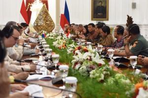 Pertemuan Bilateral Indonesia - Filipina, di Istana Merdeka, Jakarta, Jumat (9/9) sore. (Foto: Humas/Rahmat)