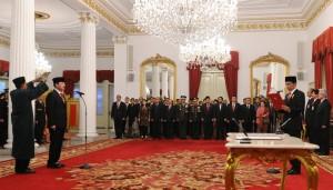 Pelantikan Kepala BIN Budi Gunawan, Jumat (9/9), di Istana Negara, Jakarta. (Foto: Humas/Jay)