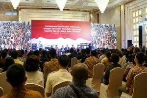 Pertemuan dengan Diaspora Indonesia, Sabtu (3/9), di Shanghai Mart, RRT