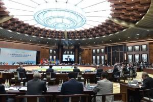 Pembukaan KTT G20 di HIEC, Hangzhou, RRT, Minggu (4/9) sore waktu setempat. (Foto: Setpres/Laily)