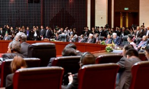 Presiden Jokowi pada dalam sidang pleno Konferensi Tingkat Tinggi (KTT) ASEAN ke-28 yang diselenggarakan di National Convention Center (NCC), Vientienne, Laos, Selasa (6/9) sore. (Foto: Setpres/Laily)
