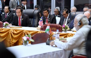 ASEAN-India ke-14, yang digelar di National Convention Centre, Vientiane, Laos, Kamis (8/9) siang