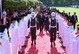 Presiden Jokowi dan Wakil Presiden Jusuf Kalla