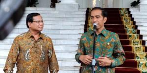 Ketua Umum Partai Gerindra Prabowo Subianto saat bertemu Presiden Jokowi, di Istana Bogor, beberapa waktu lalu.