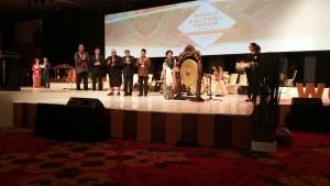 Suasana acara pembukaan World Culture Forum 2016 di Bali, Kamis (13/10). (Foto: Humas/ES)