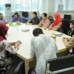 Kunjungan Asdep Humas dan Protokol Setkab ke Gorontalo Post, Jumat (21/10). (Foto: Humas/Rahmat)