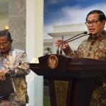 Seskab Pramono Anung memberi keterangan pers di Kantor Presiden, Rabu (26/10). (Foto: Humas/Jay)
