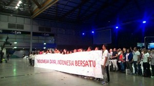 The declaration for Peaceful and United Indonesia by Indonesians in Sydney, Australia, Sunday (6/11)(Photo by: Public Relations Division/Said)