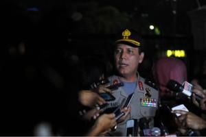 Kadiv Humas Polri, Boy Rafli Amar, menjawab pertanyaan wartawan di kawasan Istana Presiden, Jakarta, Jumat (4/11) petang. (Foto: Humas/Fitri)