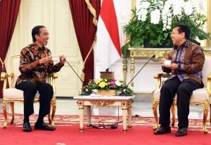 Presiden Jokowi saat menerima kunjungan Ketua Umum Partai Golkar Setya Novanto, di Istana Merdeka, Jakarta, Selasa (22/11) sore. (Foto: Humas/Rahmat)