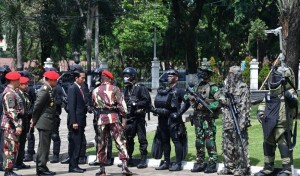 President Jokowi at the Headquarters of the Army's Special Forces, Cijantung, East Jakarta, on Thursday (10/11) (Picture: Press, Media, and Information Bureau of Secretariat of the President)