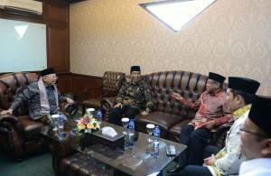 Suasana pertemuan Presiden Jokowi dengan Pengurus Besar NU, Senin (7/11). (Foto: BPMI)