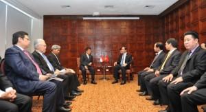 Wapres JK bertemu dengan Vietnam, di Peru, Jumat (18/11) waktu setempat. (Foto: Setwapres)