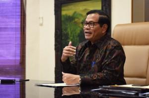 Sekretaris Kabinet Pramono Anung memberi pernyataan di Hari Guru Tahun 2016 (25/11). (Foto: Humas/Jay)
