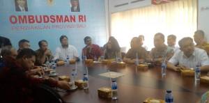 Kunjungan Komisi II DPR RI di Kantor Ombudsman Perwakilan Provinsi Bali pada Kamis (10/11) di Denpasar, Bali. (Foto: Humas/Edi)
