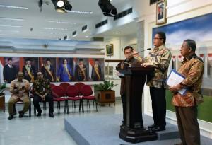Suasana pengumuman Paket Kebijakan Ekonomi XIV, Kamis (10/11) sore. (Foto: Humas/Jay)