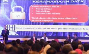 Presiden Jokowi saat berbicara pada Sosilasasi Tax Amnesty periode kedua, di Platinum Hotel, Balikpapan, Kaltim, Senin (2/12) sore. (Foto: Deny S/Humas)